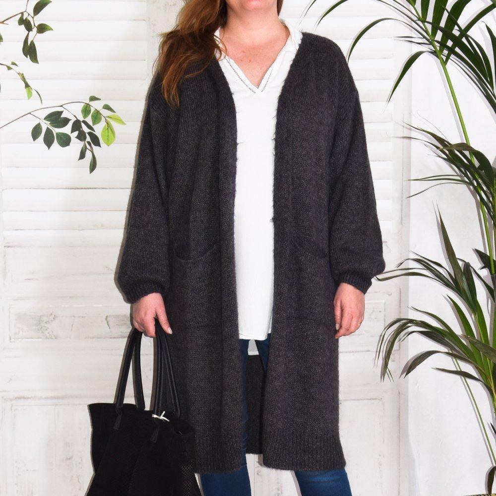 Grand gilet manteau en laine bien chaud