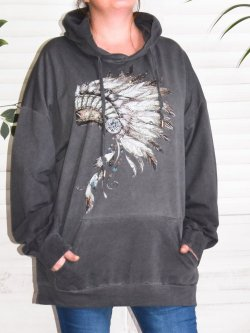 Indiana, sweat grande taille Lagenlook