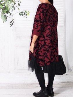 Robe velours , Féerie, marque Lagenlook - bordeaux