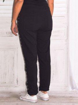 Ninon, pantalon sportswear, grande taille noir dos