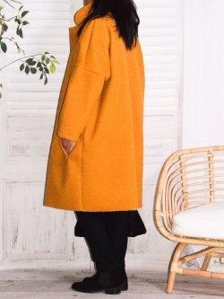 Rosana, manteau grande taille - jaune