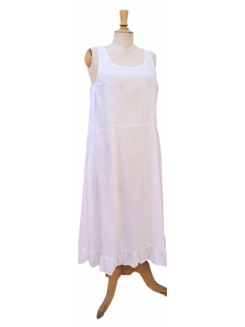 fond de robe blanc dentelle grande taille femme