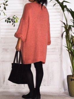 Robe Pull en maille,  marque Lagenlook modèle Douceur - saumon