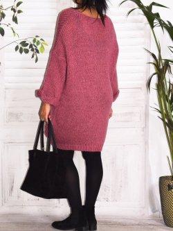 Robe Pull en maille,  marque Lagenlook modèle Douceur - lilas