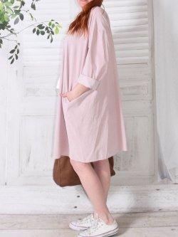 Robe en velours Nola, marque Lagenlook - rose