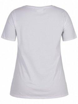 T-shirt l'indispensable, marque  Zizzi - blanc