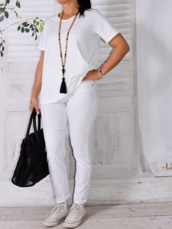 Jegging grande taille, marque Nana Belle - blanc