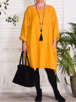 Romane, robe lin grande taille Lagenlook