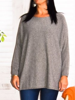 Athéna, pull fluide, grande taille