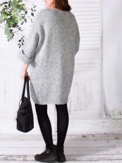 Robe Pull en maille,  marque Lagenlook modèle Douceur - gris