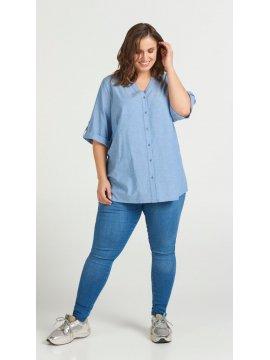 Vanina, chemise grande taille, marque Zizzi face