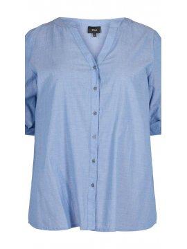 Vanina, chemise grande taille, marque Zizzi zoom face