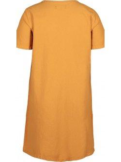 Johanna, robe grande taille, marque Zizzi - jaune