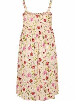Marina, robe longue, grande taille, marque Zizzi - rose
