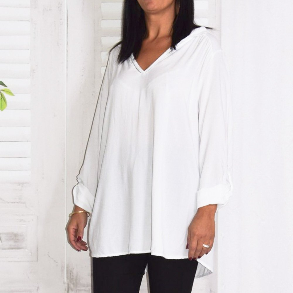 chemise tunique fluide grande taille Alex