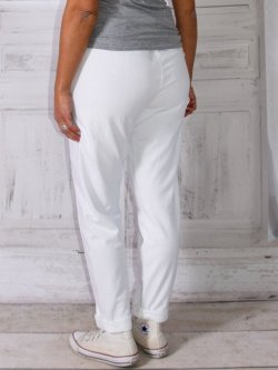Berlin, pantalon sportswear,  Lagenlook - blanc