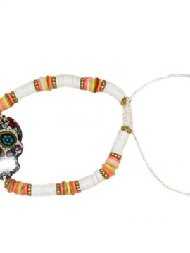 bracelet skull bohème blanc