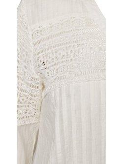 Victoire, sublime tunique romantique, marque Zizzi - blanc cassé