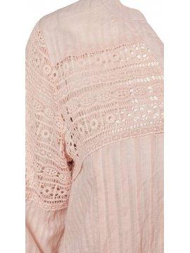 Victoire, sublime tunique romantique, marque Zizzi rose