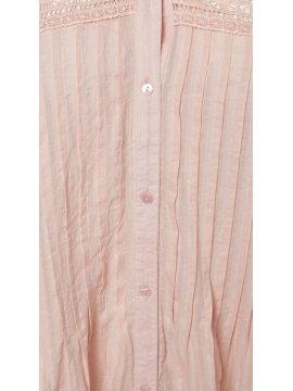 Victoire, sublime tunique romantique, marque Zizzi rose zoom face