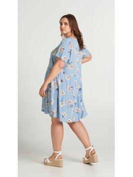 Azura, robe fleurie, marque Zizzi dos