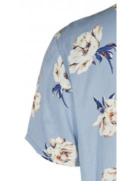 Azura, robe fleurie, marque Zizzi manche