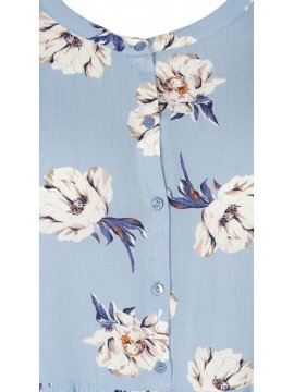 Azura, robe fleurie, marque Zizzi col