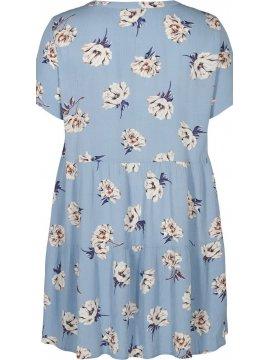Azura, robe fleurie, marque Zizzi bleu