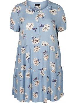 Azura, robe fleurie, marque Zizzi profil