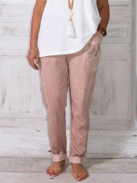 Berlin, pantalon sportswear, Lagenlook rose zoom