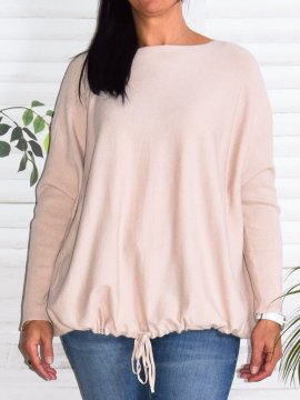 Pull grande taille Niagara rose face zoom