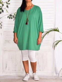 Naomi, tunique mode et son collier - vert