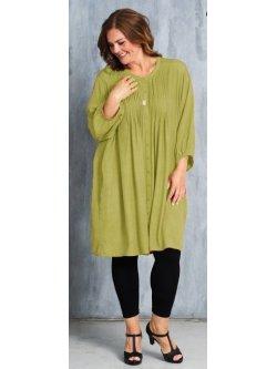 Kirsten, robe grande taille, marque Gozzip - anis