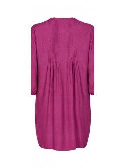 Kirsten, robe grande taille, marque Gozzip - framboise