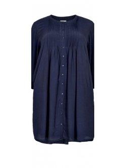 Kirsten, robe grande taille, marque Gozzip - Marine