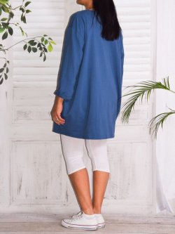 Naomi, tunique mode et son collier - Bleu