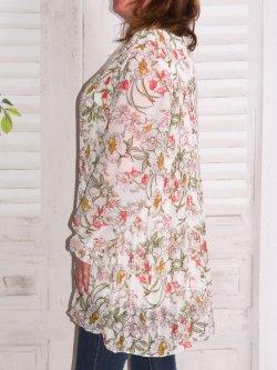 Mareva, tunique plissée grande taille - blanc