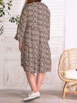 Robe Alison jungle, marque Christy - chocolat