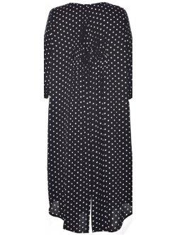Eva, robe grande taille, marque Gozzip - noir