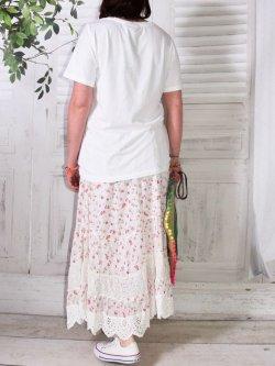 Jupon romantique, modèle framboise, marque Provencal Days - blanc
