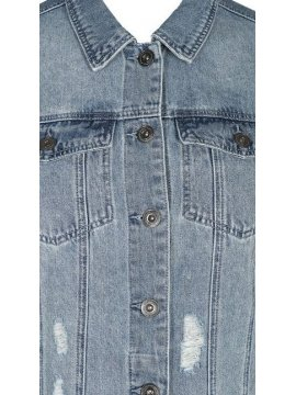 Veste en jean brodée, marque Zizzi zoom col