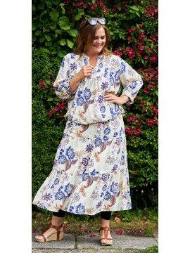 Jacobine, robe bohème midi grande taille, marque Gozzip zoom
