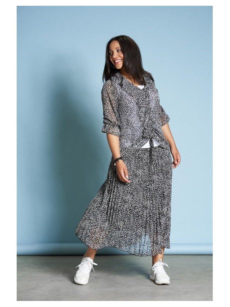 longue jupe plissée grande taille Gozzip