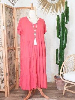 Cerise robe coton grande taille