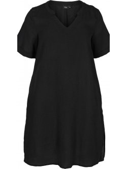Viviane, robe grande taille, marque Zizzi - noir