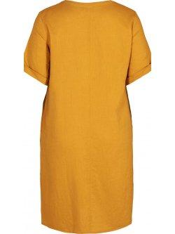 Viviane, robe grande taille, marque Zizzi - jaune