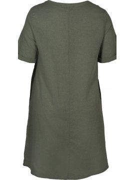 Viviane, robe grande taille, marque Zizzi gris zoom dos