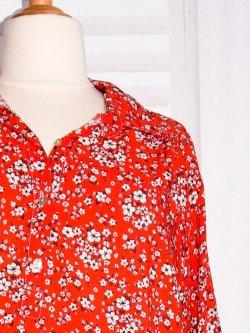 Anémone, robe grande taille, imprimé fleuri - rouge