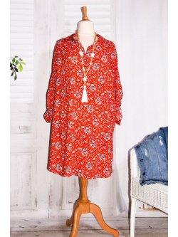 Anémone, robe grande taille, imprimé fleuri