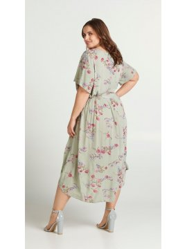 Aster, robe fleurie grande taille, Zizzi dos